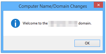 Computer is now part of the domain.