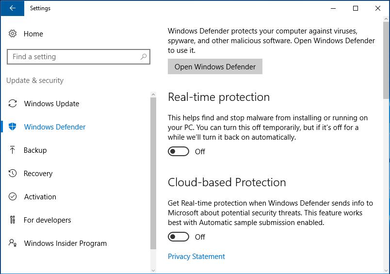 QA #9 How disable Windows Defender on Windows 10 Home - 10it