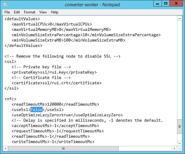 vmware Converter speedup