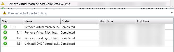 Hyper-V Host removed SCVMM
