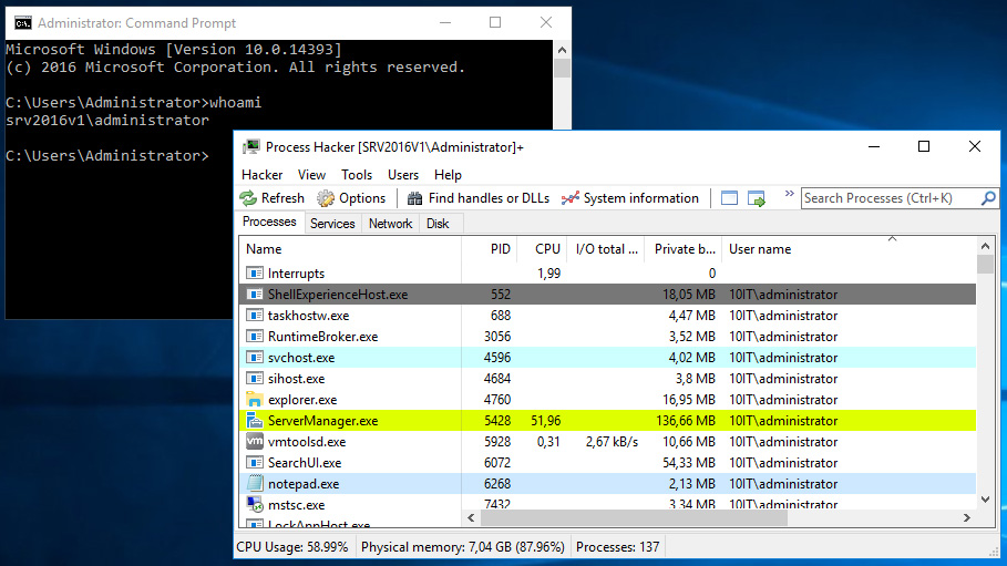 Windows domain administrator account theft is possible