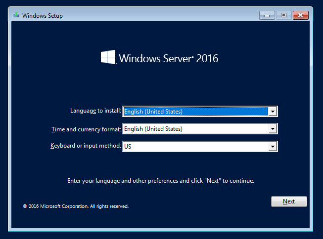 Reset Windows Server local account password