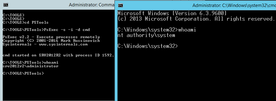 Windows Server services security. Interactive user account